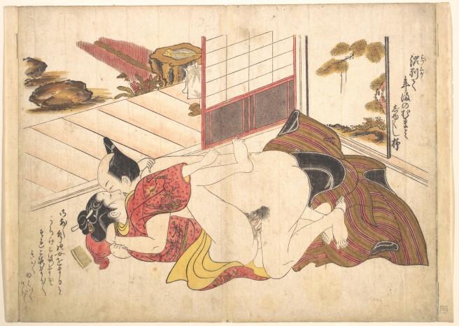 Fig. 2. Bedroom Scene. Okumura Masanobu [c.1739]. From the Ukiyo-e.org Database.